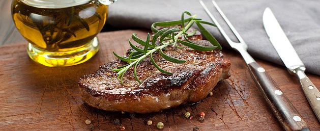rückwärtsgegartes Steak