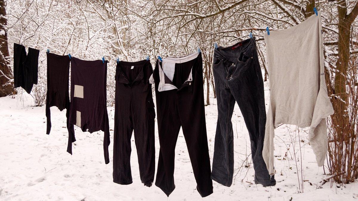 Wäsche trocknen bei Frost durch Sublimation
